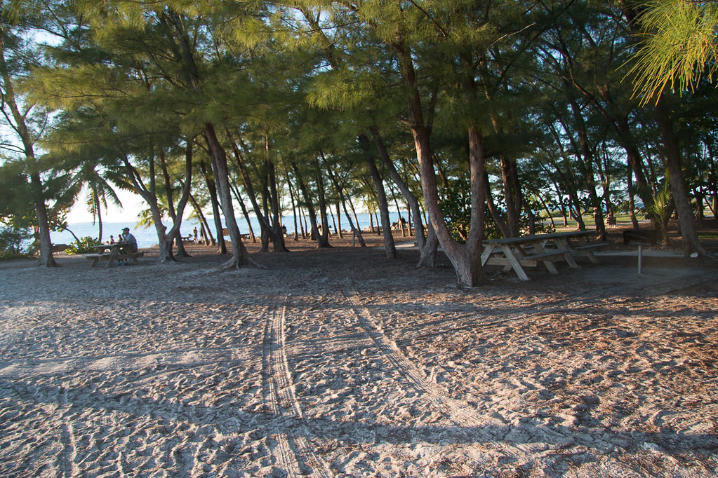Beach at Fort Zachary Taylor State Park in Key West