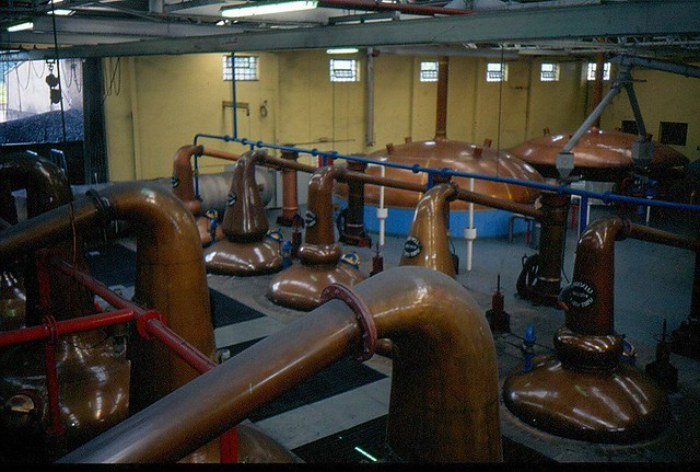 Glenfiddich distillery stills 1997