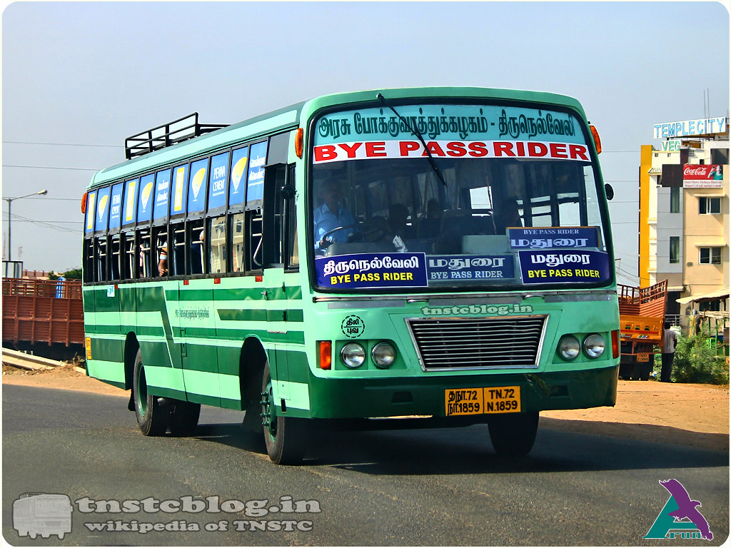 TN-72N-1859  of Bypass Depot Route  Tirunelveli - Madurai BPR