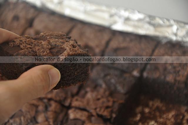 Bolo-brownie com farinha de aveia (pedaço)