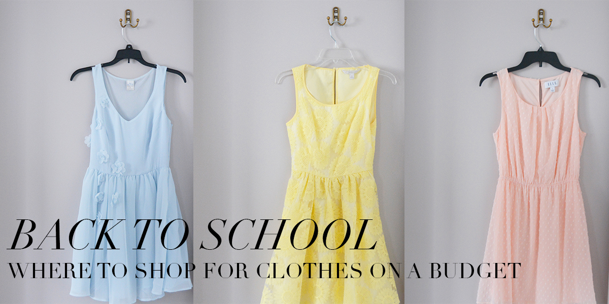 Back To School: Where to Shop For Clothes on a Budget