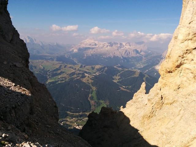 Ausblick von der Lavarelascharte