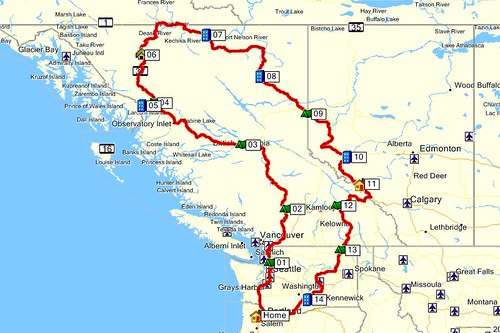 16 days from Oregon to Hyder Alaska the Yukon the Alaska Highway 2015