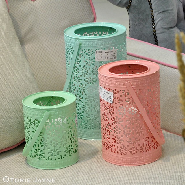 Rice DK lanterns at Top Drawer