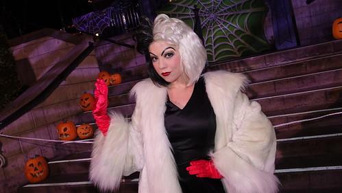 Cruella De Vil at Disneyland Halloween Party