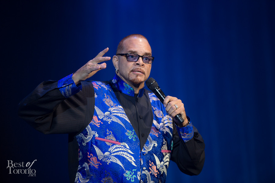 Sinbad was hilarious, talking about how he got into Canada for the gala without a passport