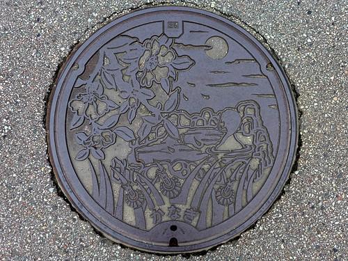 Kanagi Shimane, manhole cover (島根県金城町のマンホール)