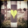 #reflective heart #sticker #graffiti #urbanart