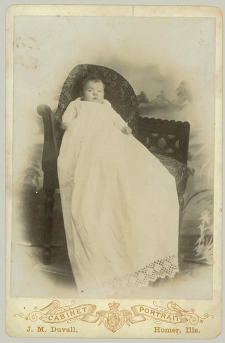 Christening Gown Cabinet Card