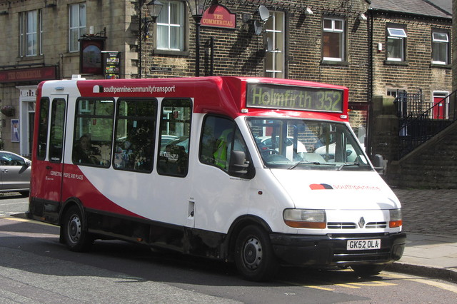 South Pennine Community Transport, GK52 OLA, Renault Master/Rohill Harrier, High Street, Uppermill