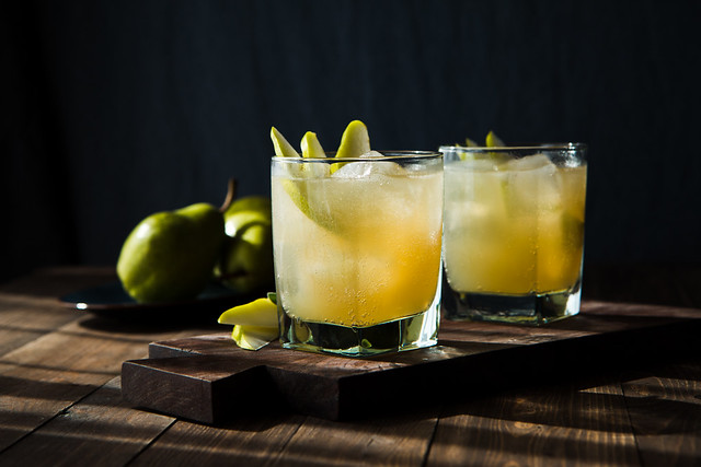 Sparkling Pear Ginger Cocktail