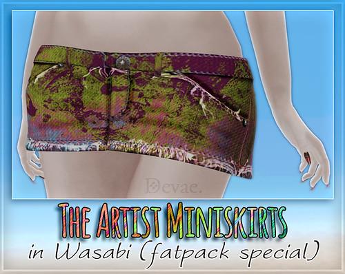 Devae. Attire / Artist Miniskirts (fatpack special)