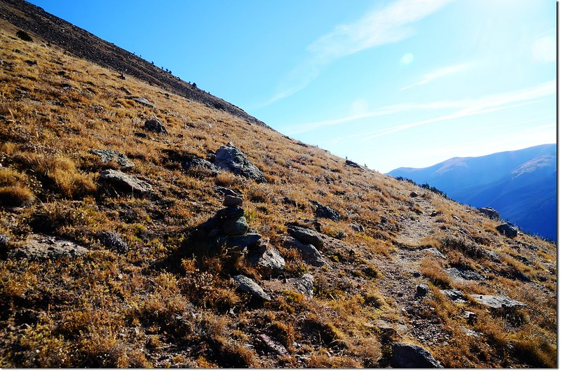 Cairn on the southwest ridge of Parnassus