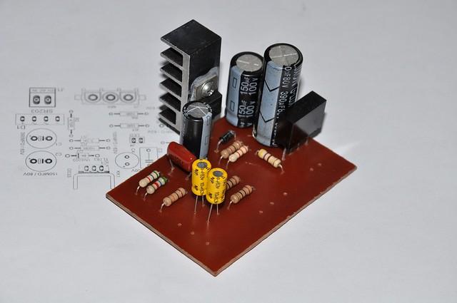 PCB of 48V phantom power supply.