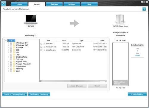 WD SmartWare Backup