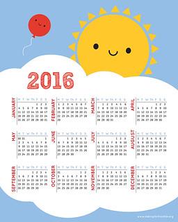 Sun Calendar 2016