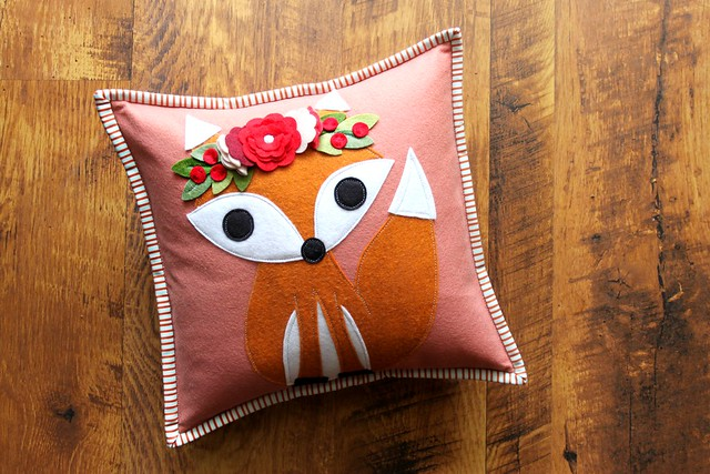 Holiday Fox Pillow!