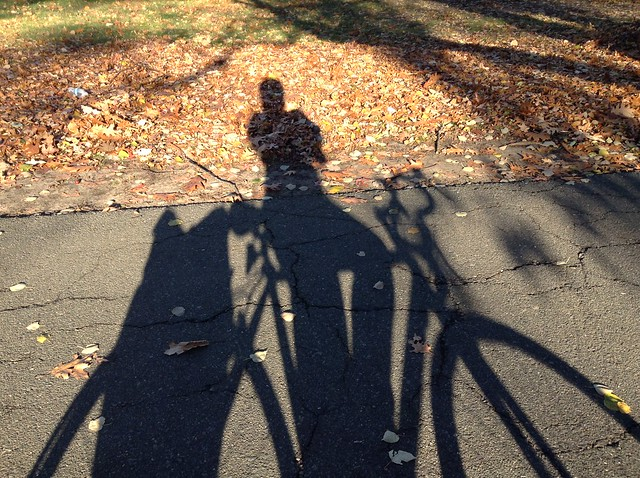 Bike & rider silhouette