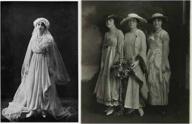 Photos de mariées, 1917 et 1915