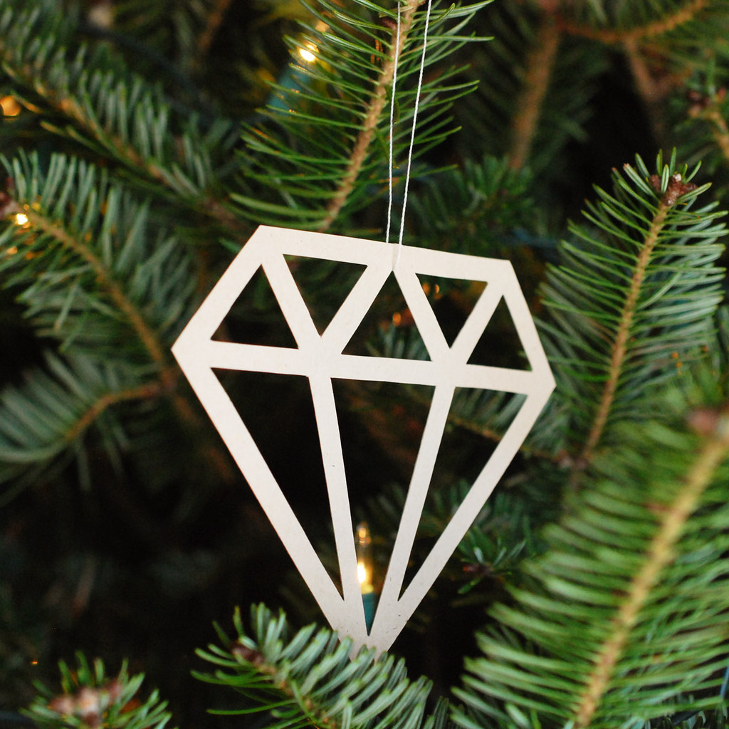 Diamond Paper Ornaments