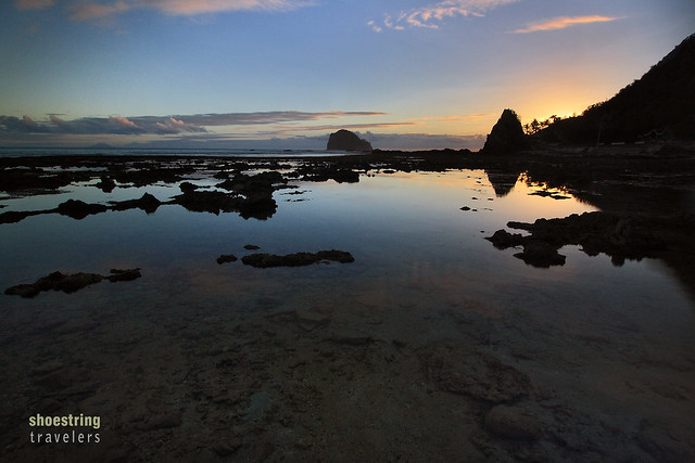 sunrise at Diguisit Beach with the Aniao Islets in the background