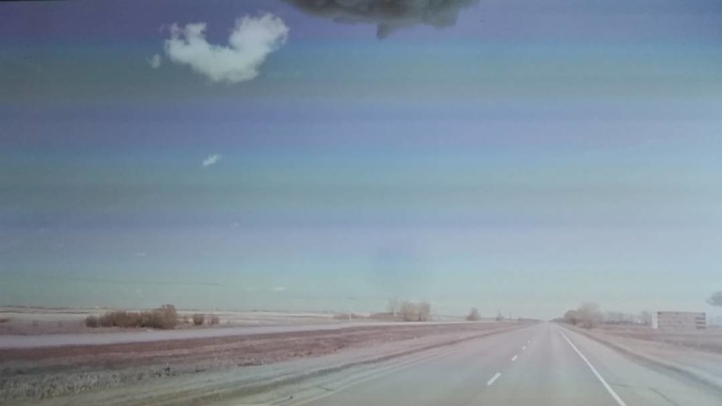 Heart shaped cloud #ridingthroughwalls #xcanadabikeride #googlestreetview #saskatchewan