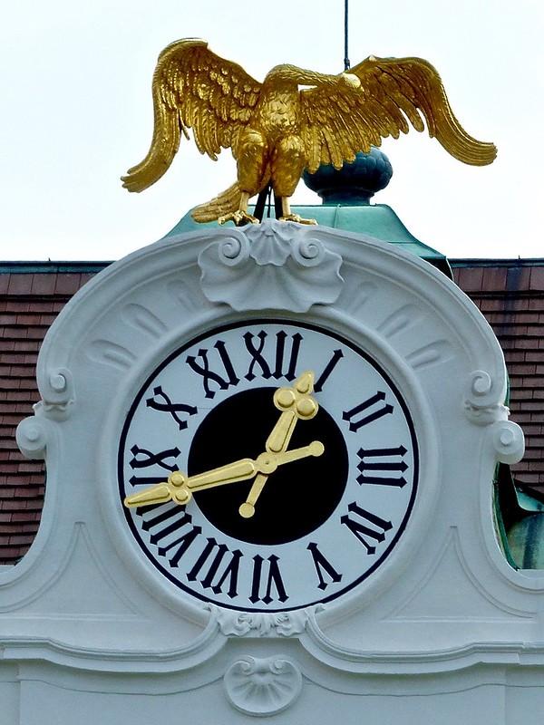 Golden Swan Clock Sculpture, Schönbrunn Palace Vienna Austria