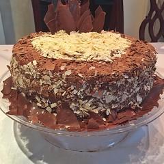Birthday cake - Mousse of nutella and cream brigad…