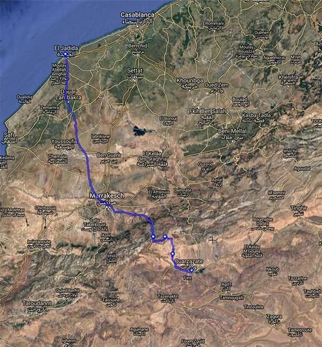 Route EL Jadida Ouarzazate1