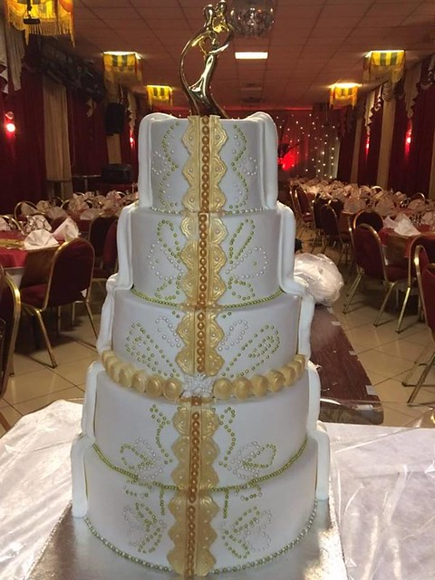 Double Themed Wedding Cake by Manel Gabteni of Sucre & Moi cakes