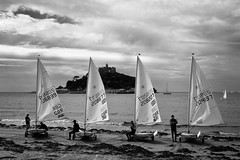 St. Michael's Mount, Laser dinghies; August 2015
