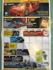 LEGO October 2015 Store Calendar