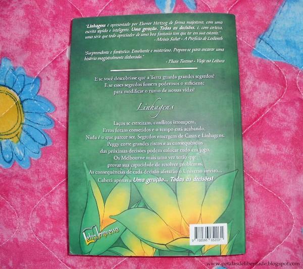 Resenha, livro, Linhagens, Eleonor Hertoz, contracapa, sinopse