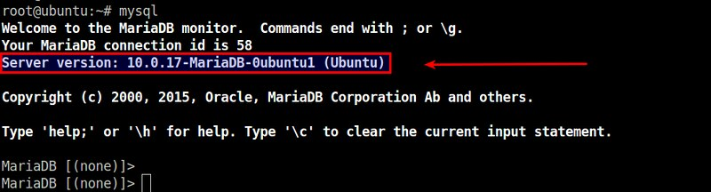 How to check MariaDB server version - Ask Xmodulo