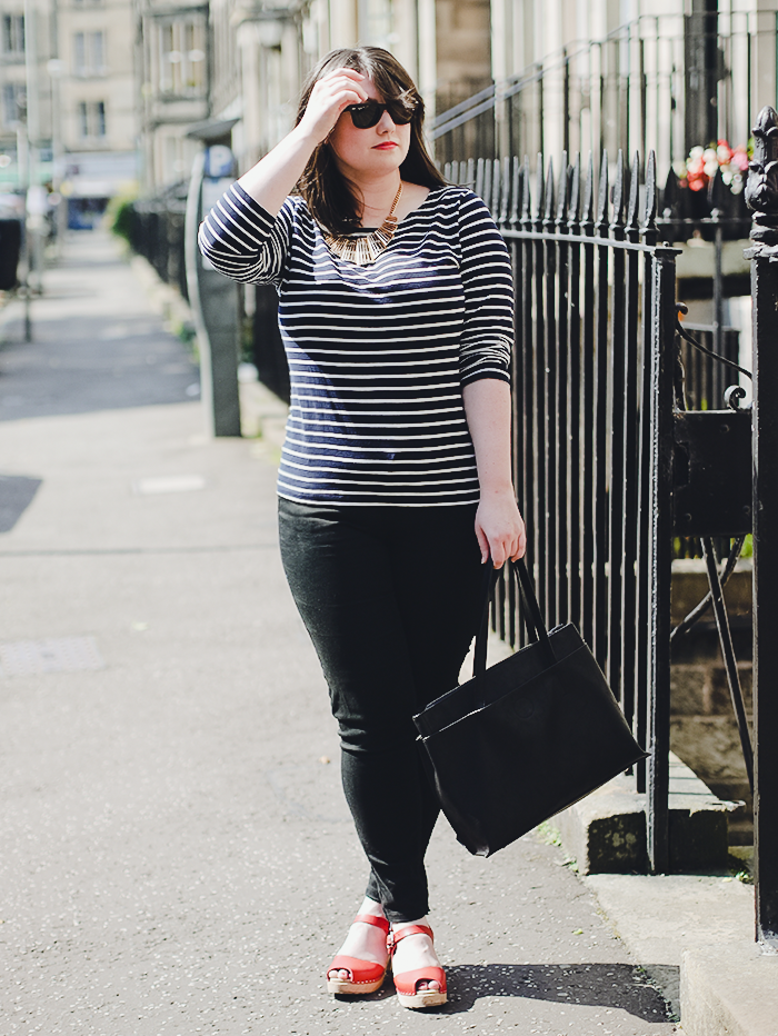 striped breton tee outfit 1