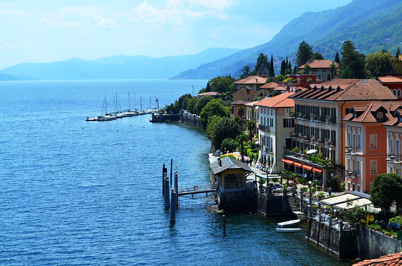 Promenade, Cannero Riviera, Lake Maggiore, Italy