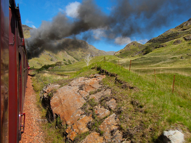 Jacobite Steam Train in Scotland