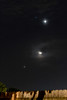 Crescent Moon & Three Planets