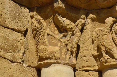 Biota (Aragon), San Miguel - sculpture romane - 09