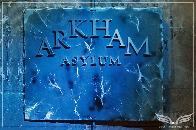 The Establishing Shot: ARKHAM ASYLUM ENTRANCE - THE ROGUES GALLERY - CREATION OF A   SUPER-VILLAIN BOOK LAUNCH @ THE CRYPT GALLERY, LONDON - OCT 2015