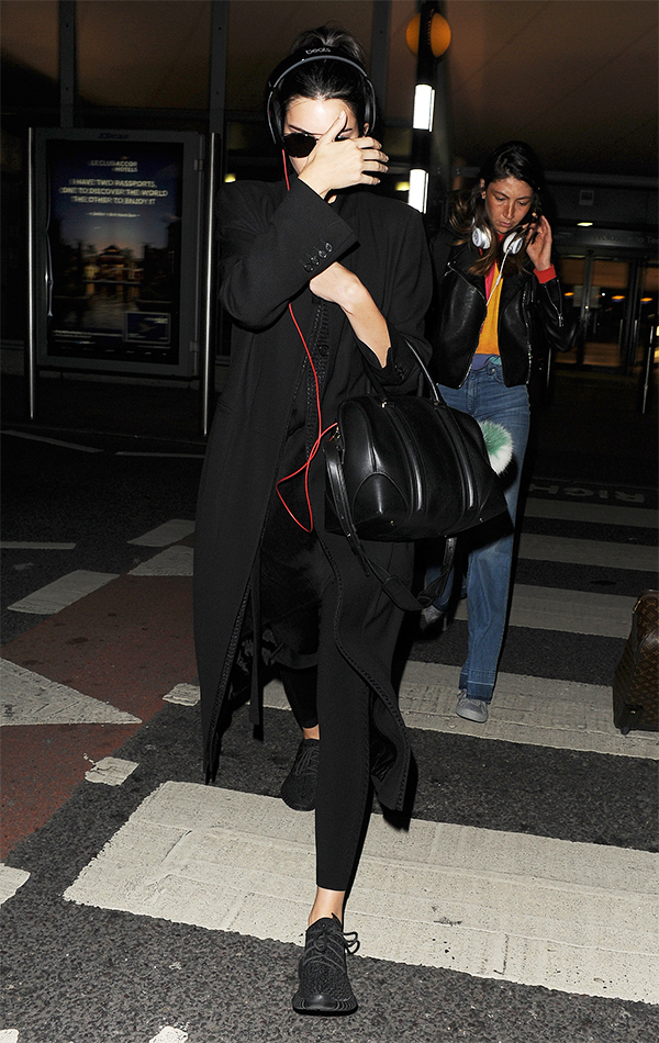 Kendall Jenner Arriving at Heathrow Airport in London