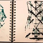 Cooling tower ink sketch