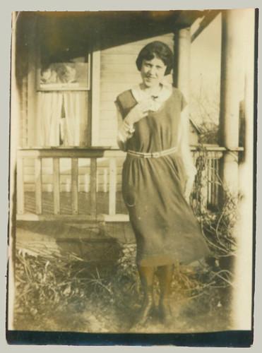 Woman at porch