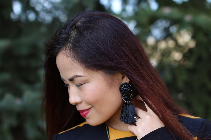 hm fringe tassel earrings