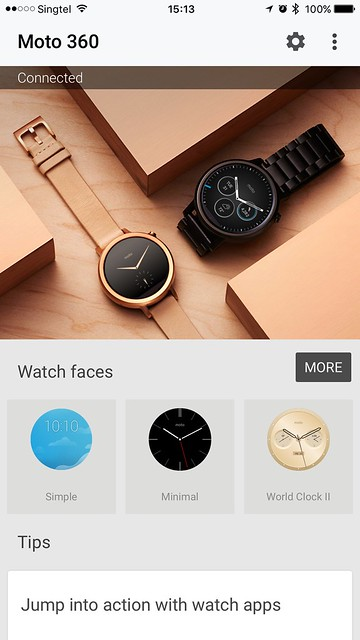 Android Wear iOS - Home