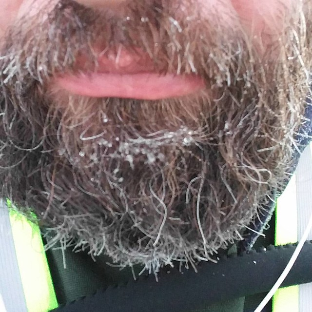 This is the first time my beard has frozen.