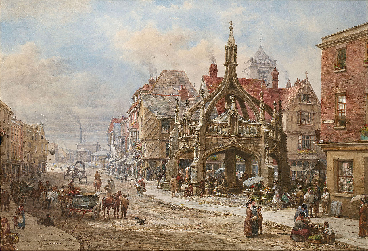 The Poultry Cross, Salisbury by Louise Rayner