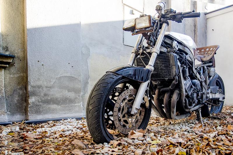 Motorbike near Schönbrunn Palace in Vienna