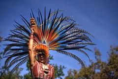 Focus at the Aztec dance