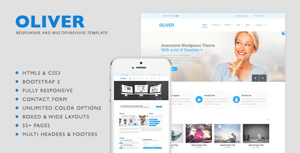 Oliver v1.0.1 - HTML5 Multipurpose Template